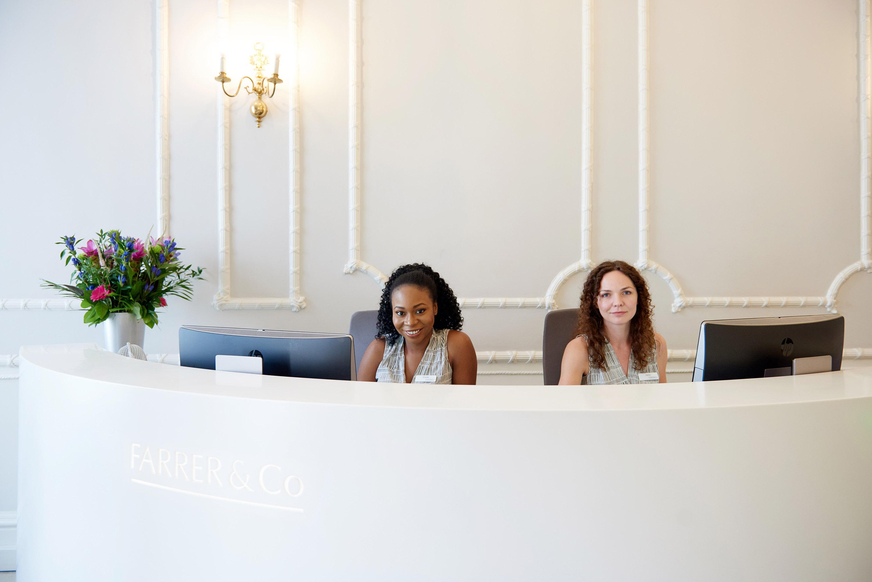 Farrer & Co – Best work placement - City firm   Reception